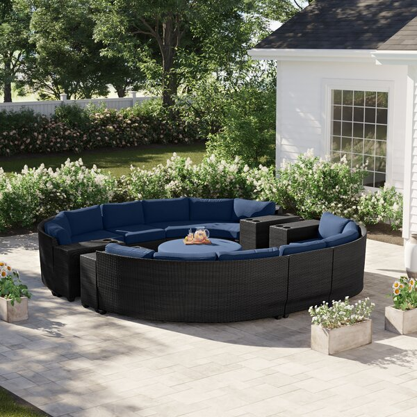 Tegan 11 Piece Sectional Seating Group with Cushions by Sol 72 Outdoor