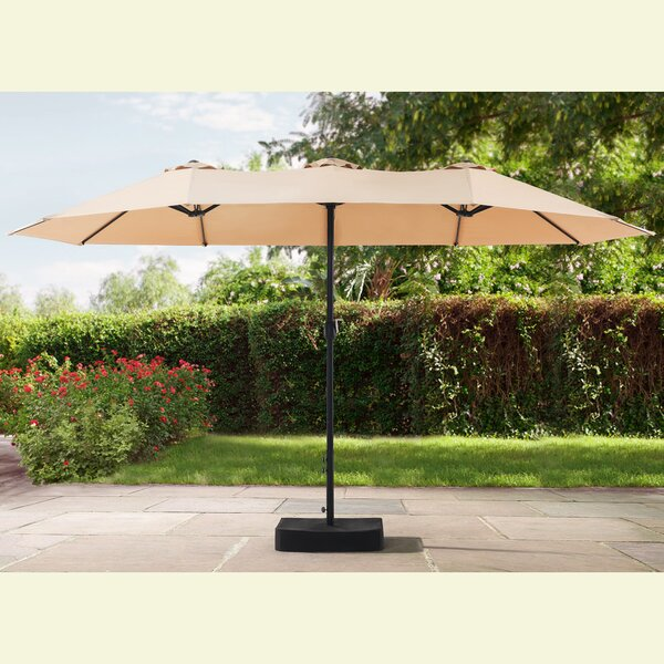 Clarita 7' x 15' Rectangular Market Umbrella by Darby Home Co Darby Home Co