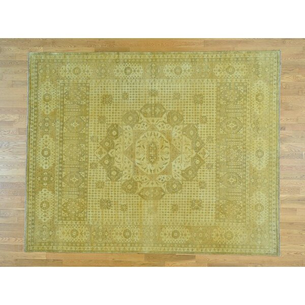 One-of-a-Kind Best Historical Hand-Knotted Yellow Wool Area Rug by Isabelline