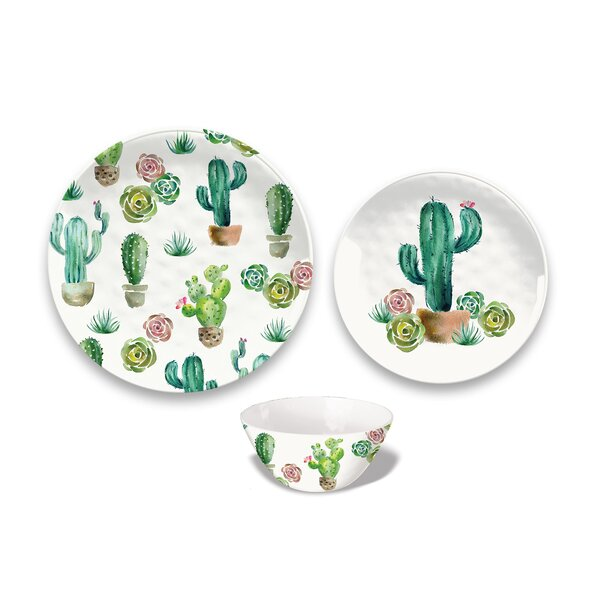 Omer 12 Piece Melamine Dinnerware Set, Service for 4 by Bungalow Rose