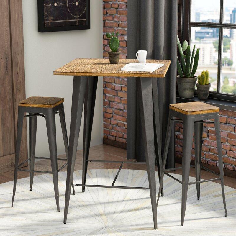 Claremont 3 Piece Pub Table Set & Trent Austin Design Claremont 3 Piece Pub Table Set u0026 Reviews | Wayfair