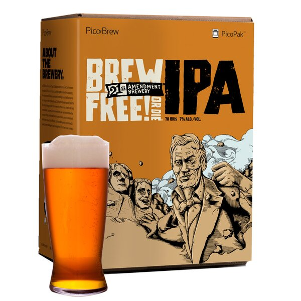 21st Amendment Brew Free or Die IPA Brewing Mix (Set of 2) by PicoBrew