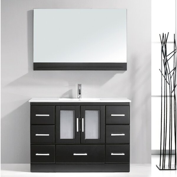 Dunellen 47.5 Single Bathroom Vanity Set with Mirror by Wade Logan