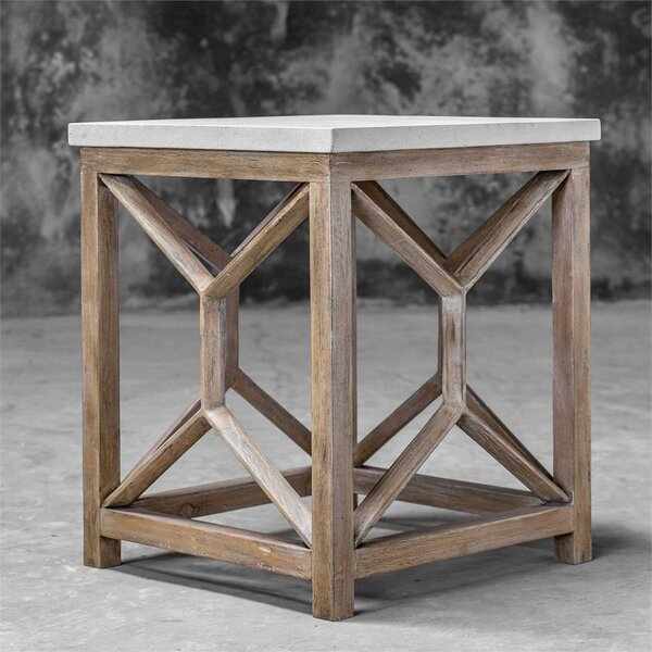 Niemann Stone End Table by Brayden Studio