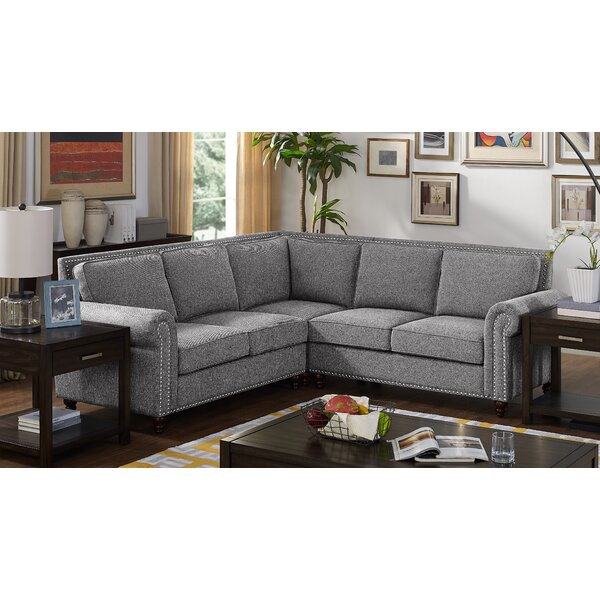 Discover An Amazing Selection Of Attleboro Symmetrical Sectional by Charlton Home by Charlton Home