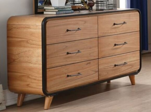 Gipson 6 Drawer Double Dresser by Modern Rustic Interiors