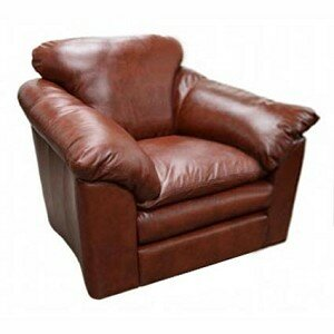 Oregon Leather Armchair by Omnia Leather