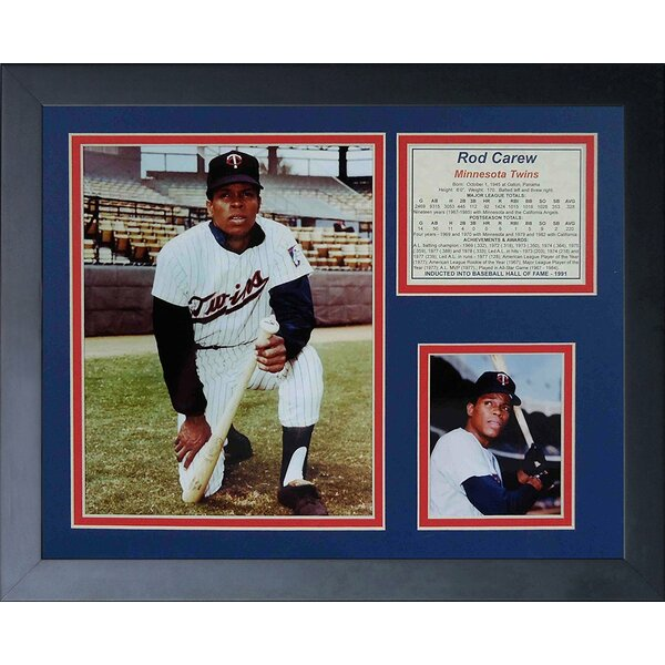 Rod Carew Framed Memorabilia by Legends Never Die