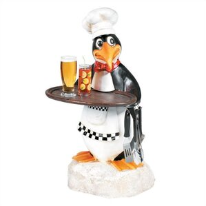 Penguin Chef Waiter Outdoor Table by RAM Game Room