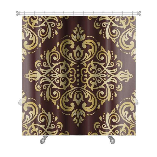 Delta Damask Ornament Fine Traditional Oriental Pattern Premium Shower Curtain by Gear New