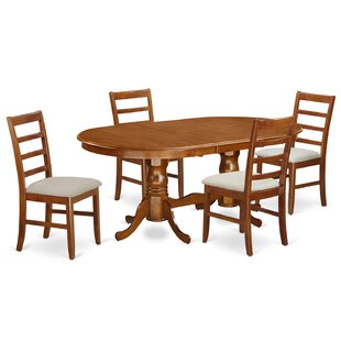 Pilcher Contemporary 5 Piece Wood Dining Set By August Grove