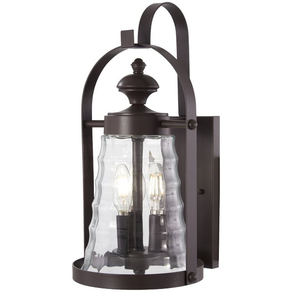 Elwell 3-Light Outdoor Wall Lantern by August Grove