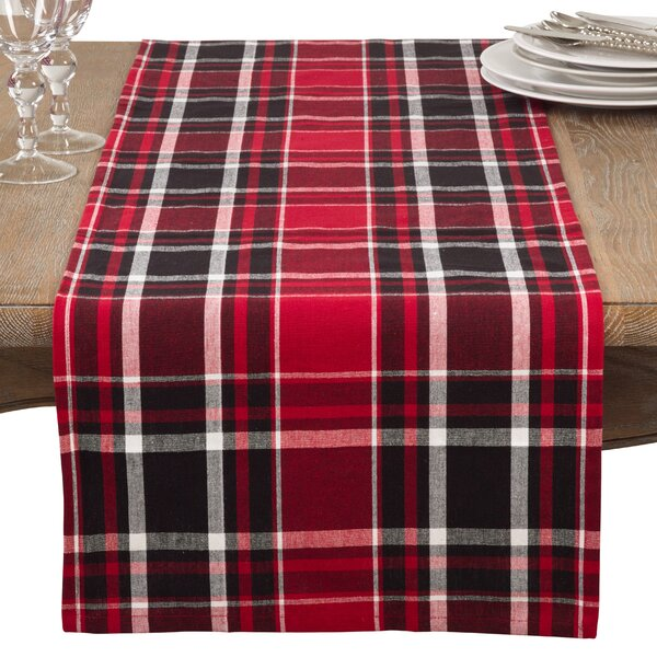 Sigmon Classic Plaid Everyday Cotton Table Runner by Laurel Foundry Modern Farmhouse