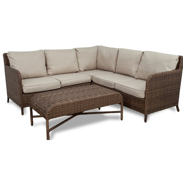 Bavis 4 Piece Rattan Conversation Set with Cushions by Gracie Oaks