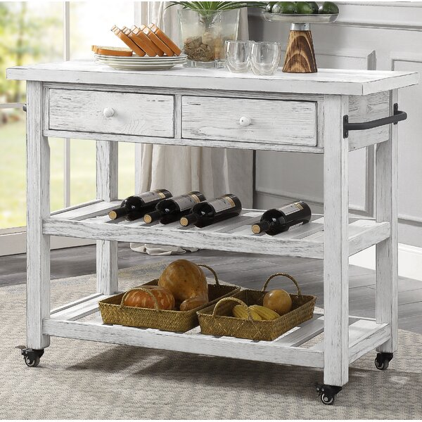 Caigan Kitchen Cart by Ophelia & Co.