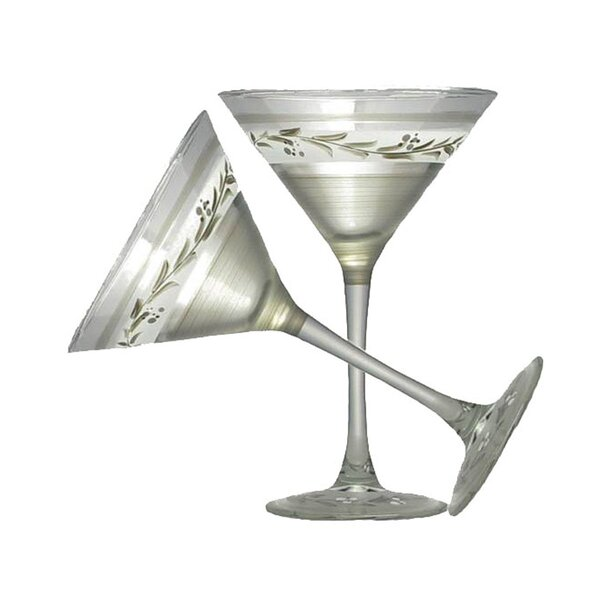 Vine Martini Glass (Set of 2) by Golden Hill Studio