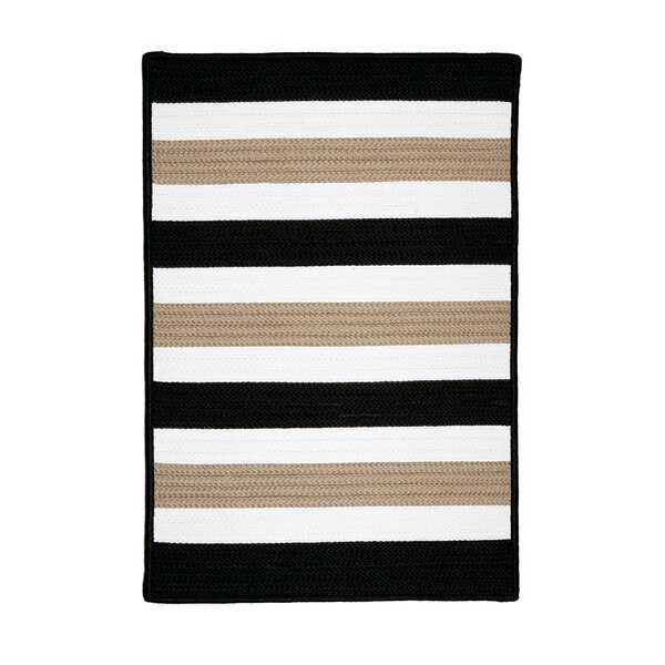 Eagle Lake Black Indoor/Outdoor Area Rug by Beachcrest Home