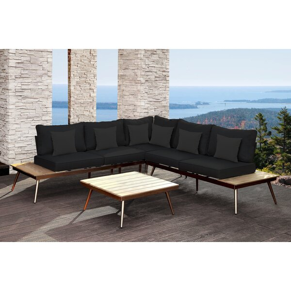 Wisner Outdoor Modular 3 Piece Sectional Set with Cushions by Orren Ellis