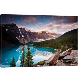 'Moraine Lake, Banff National Park, Alberta, Canada' Photographic Print on Wrapped Canvas by East Urban Home