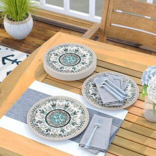 Renner 10.5\  Dinner Plate (Set of 6) & Geometric Dinner Plates You\u0027ll Love | Wayfair