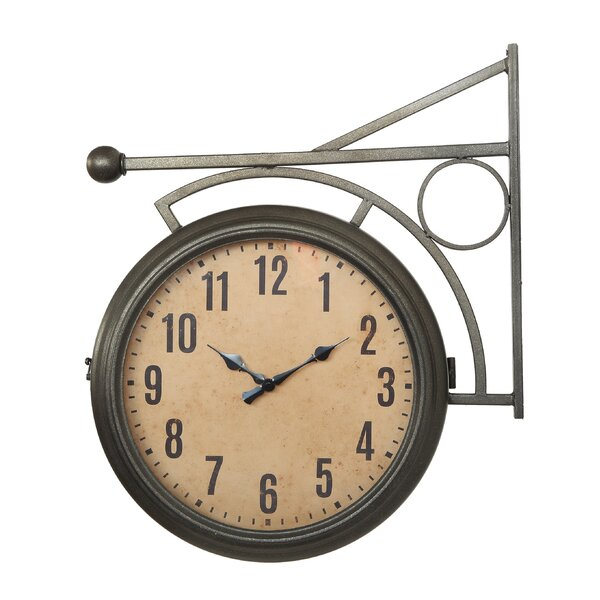 Doster Metal 2-Sided Station Clock by Williston Forge
