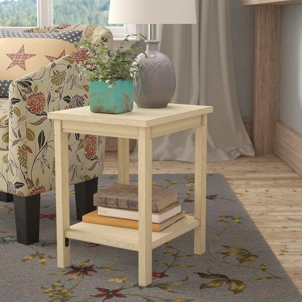 Lynn Wood End Table by Mistana