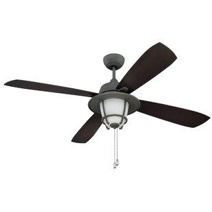 Affordable 56 Faya 4-Blade Ceiling Fan By Longshore Tides
