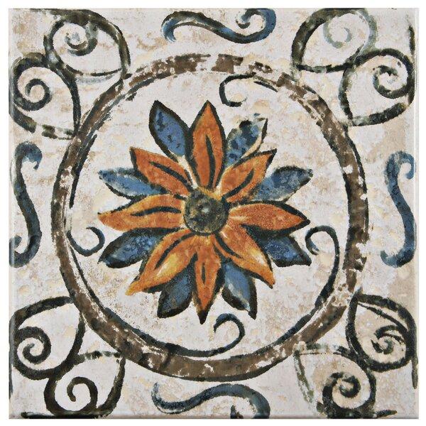 Romana 7.75 x 7.75 Ceramic Field Tile in Brown by EliteTile