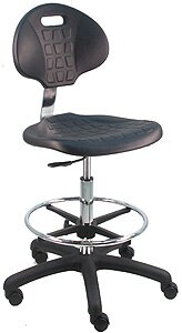 Adjustable Cleanroom Lab Upholstered Drafting Chair by Symple Stuff