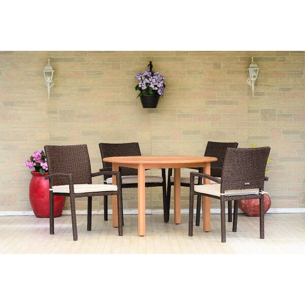 Cyr 5 Piece Dining Set with Cushions (Set of 5) by Charlton Home