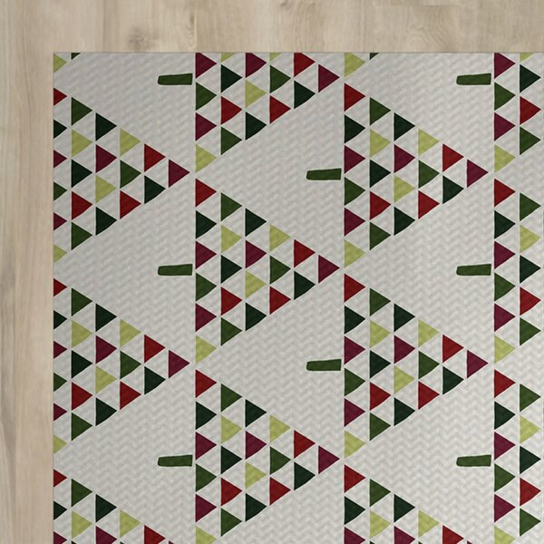Christmass Geometric Gray Indoor/Outdoor Area Rug by The Holiday Aisle