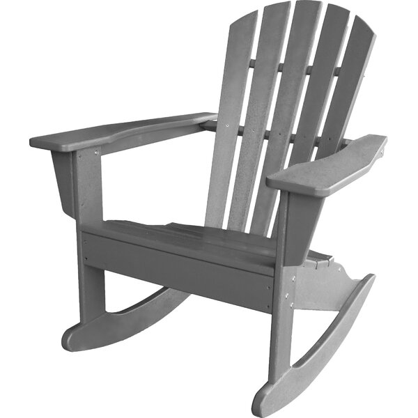 Palm Coast Plastic/Resin Rocking Adirondack Chair by POLYWOOD POLYWOOD®