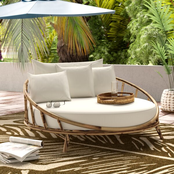 Olu Patio Daybed with Cushions by Bayou Breeze