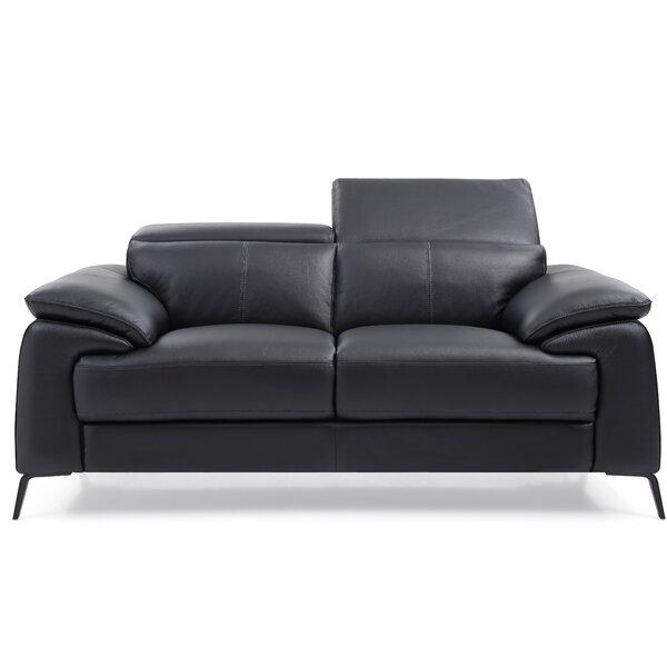 Outdoor Furniture Mckittrick Genuine Leather Loveseat