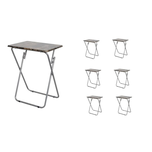 Folding TV and Snack Tray Table (Set of 6) by Above Edge Inc.