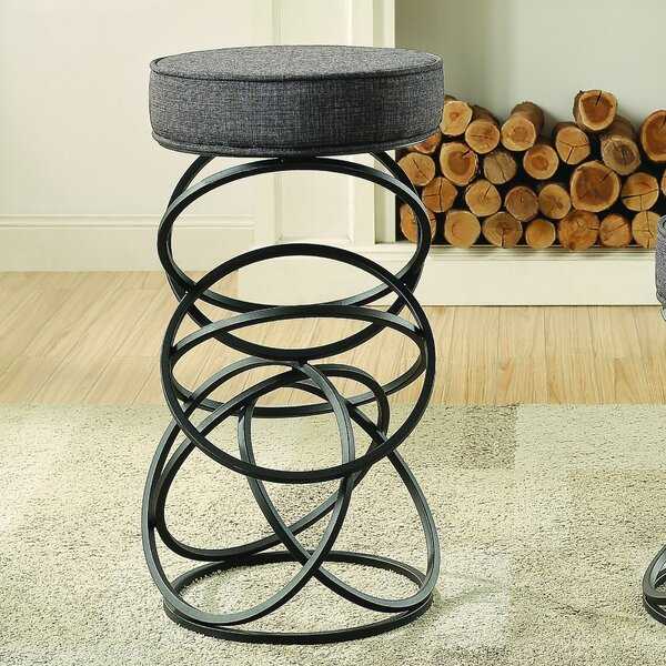 Sibley Upholstered Accent Stool by Wrought Studio