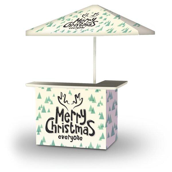 Alamance Merry Christmas Everyone 2-Piece Home Bar Set by East Urban Home East Urban Home