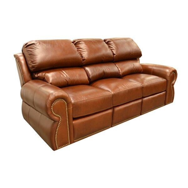 Free S&H Cordova Leather Sleeper Sofa