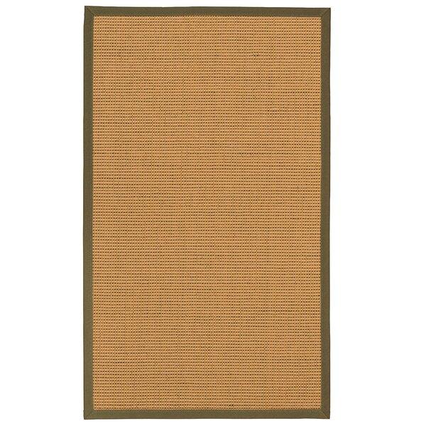 Badham Hand-Woven Wool Beige Area Rug
