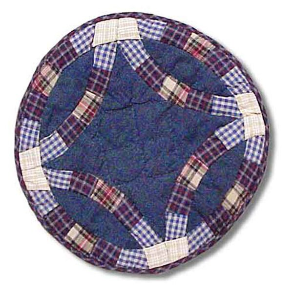 Blue Double Wedding Ring Placemat by Patch Magic