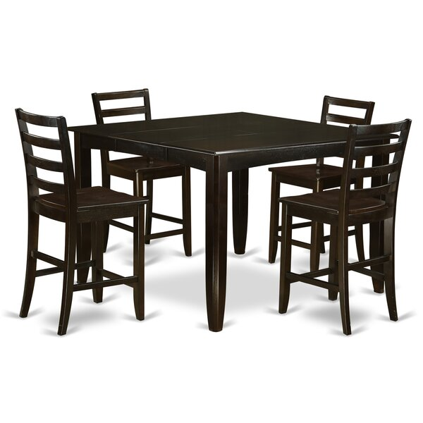 Krull 5 Piece Counter Height Dining Set by Red Barrel Studio