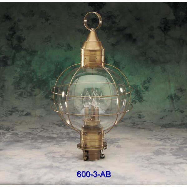 600 Series 3-Light Lantern Head by Brass Traditions
