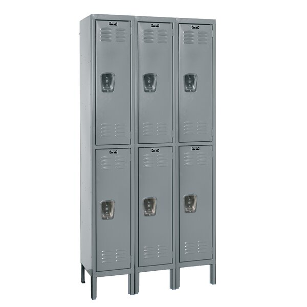 Premium 2 Tier 3 Wide School Locker by Hallowell