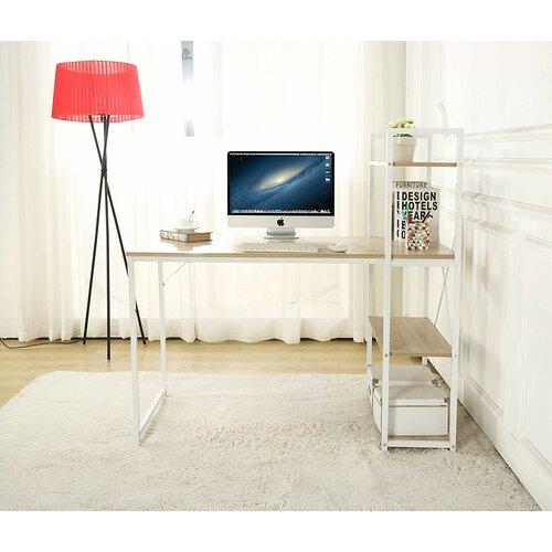 Schreibtisch Javin Hashtag Home Farbe: Ausführung: Naturbelassenes Holz | Büro > Bürotische > Schreibtische | Hashtag Home