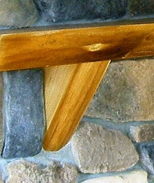 Fireplace Mantel Natural Corbel in Basswood (Set of 2) by Kettle Moraine Hardwoods