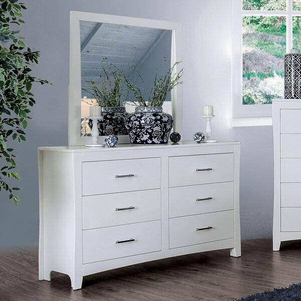 Merope 6 Drawer Double Dresser With Mirror By Winston Porter