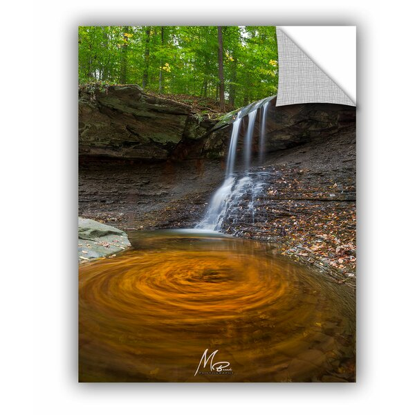 Michael Beach Whirlpool of Leaves Wall Decal by ArtWall