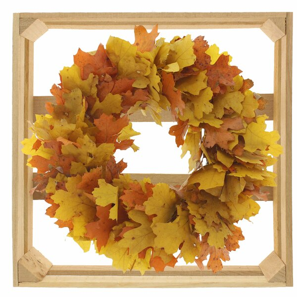 10 Autumn Leaves Wreath by August Grove