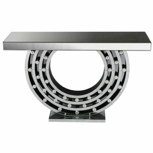Raymo Fashionable Modern Wood Mirror Console Table by Orren Ellis