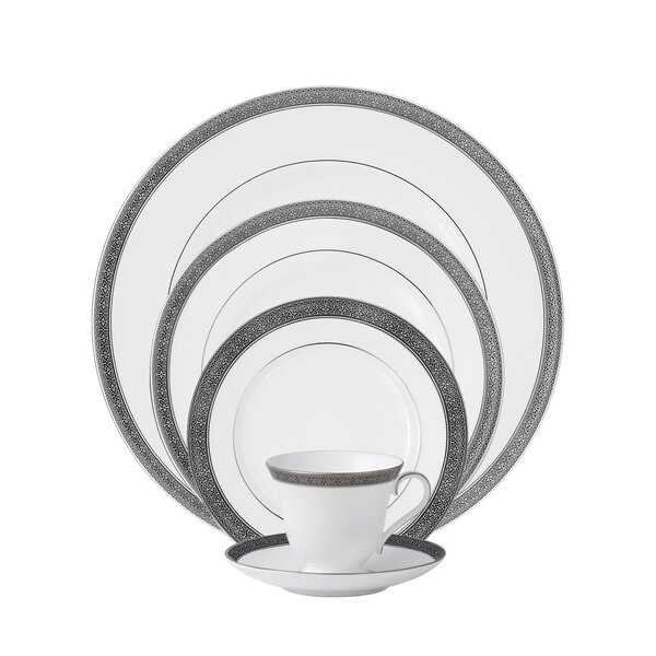 Newgrange Platinum Bone China 5 Piece Place Setting, Service for 1 by Waterford